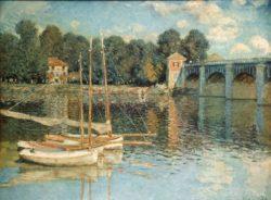 """Claude Monet """"Die Brücke von Argenteuil"""" 80 x 60 cm"""