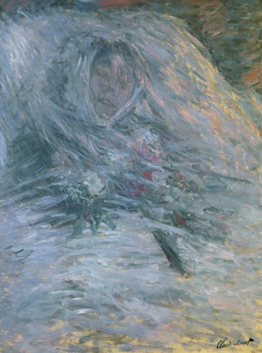 """Claude Monet """"Camille Doncieux  erste Gattin des Künstlers auf dem Sterbebett"""" 68 x 9 cm 1"""