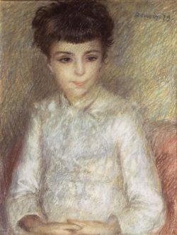 """Auguste Renoir """"Bildnis eines jungen Mädchens mit braunem Haar"""" 47 x 60 cm"""