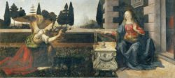 """Leonardo da Vinci """"Die Verkündigung"""" 217 x 98 cm"""