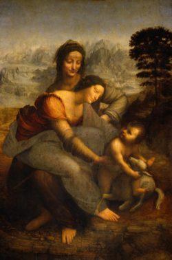 """Leonardo da Vinci """"Die Heilige Anna"""" 130 x 169 cm"""