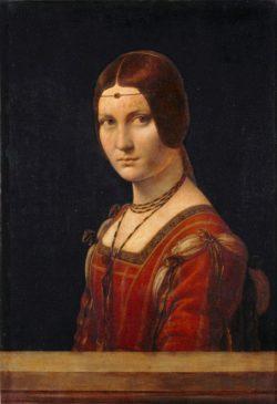 """Leonardo da Vinci """"La Belle Ferronière (Porträt einer jungen Frau)"""" 45 x 63 cm"""