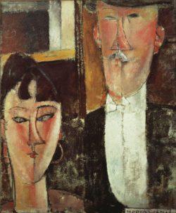 "Amedeo Modigliani ""Braut und Bräutigam"" 55 x 46""cm"