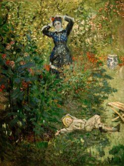 """Claude Monet """"Camille Monet und Jean im Garten"""" 97 x 131 cm"""
