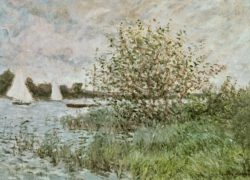 "Claude Monet ""Das Seineufer bei Argenteuil"" 73 x 54 cm"