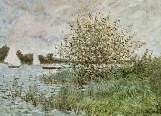 "Claude Monet ""Das Seineufer bei Argenteuil"" 73 x 54 cm 1"