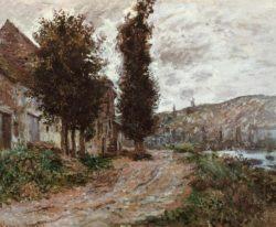 "Claude Monet ""Treidelweg bei Lavacourt"" 74 x 60 cm"