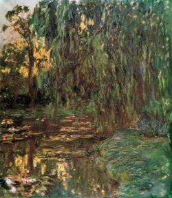 """Claude Monet """"Blick auf den Seerosenteich mit Weide"""" 130 x 150 cm"""
