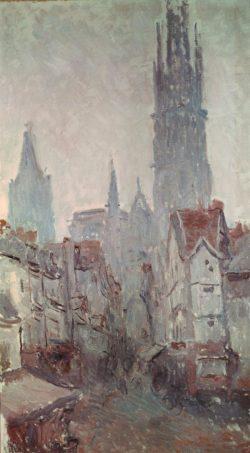 """Claude Monet """"La rue e l'Epicerie a Rouen"""" 52 x 92 cm"""