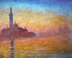 """Claude Monet """"Dämmerung in Venedig"""" 92 x 73 cm"""