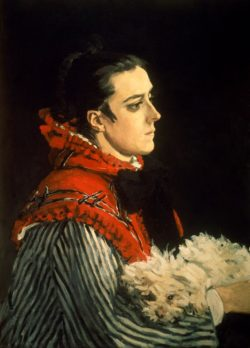 """Claude Monet """"Camille Monet mit ihrem Hündchen"""" 54 x 73 cm"""
