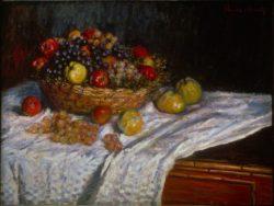 """Claude Monet """"Stillleben mit Trauben und Äpfeln"""" 89 x 67 cm"""