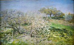 "Claude Monet ""Frühling. Blühende Apfelbäume"" 100 x 61 cm"