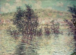 "Claude Monet ""Blick von Lavacourt auf Vetheuil"" 81 x 60 cm"