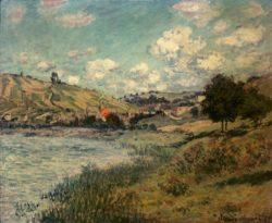 """Claude Monet """"Landschaft mit Vetheuil"""" 73 x 60 cm"""
