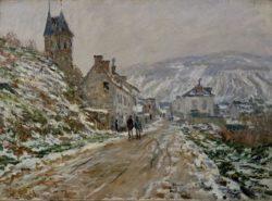 """Claude Monet """"Straßen nach Vetheuil im Winter"""" 72 x 53 cm"""