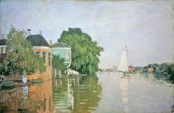"""Claude Monet """"Landschaft bei Zaandam"""" 67 x 45 cm"""