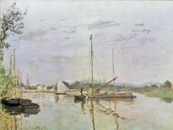 "Claude Monet ""Die Barke  Argenteuil"" 65 x 67 cm"