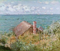 "Claude Monet ""Hütte bei Sainte-Adresse"" 62 x 52 cm"