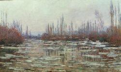 "Claude Monet ""Eisbruch"" 98 x 59 cm"