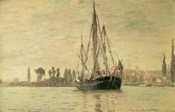 """Claude Monet """"Kleines Küstenschiff vor Anker"""" 75 x 48 cm"""