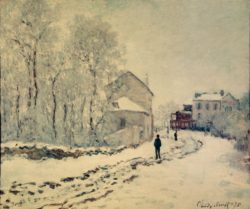 """Claude Monet """"Schnee in Argenteuil"""" 65 x 55 cm"""