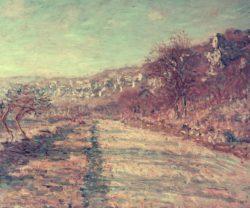 """Claude Monet """"Die Straße nach La Roche-Guyon"""" 72 x 59 cm"""