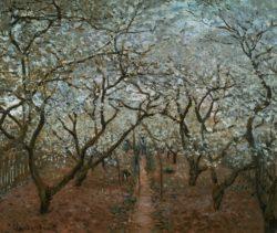 """Claude Monet """"Blühender Obstgarten"""" 65 x 55 cm"""