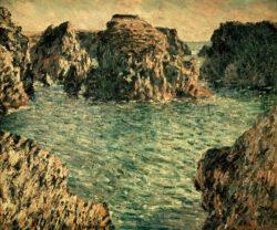"""Claude Monet """"Hafeneinfahrt von Port-Goulphar  Belle-Ile"""" 81 x 65 cm"""