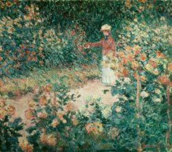 """Claude Monet """"Monets Garten in Giverny"""" 92 x 81 cm"""