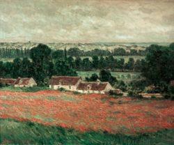 "Claude Monet ""Mohnfeld bei Vetheuil"" 92 x 81 cm"