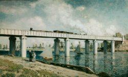 "Claude Monet ""Die Eisenbahnbrücke bei Argenteuil"" 99 x 60 cm"