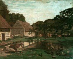 """Claude Monet """"Gehöft in der Normandie"""" 80 x 65 cm"""
