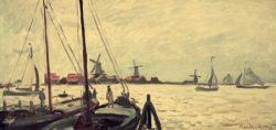 """Claude Monet """"Die Ufer der Zaan"""" 70 x 33 cm"""
