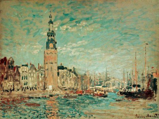 """Claude Monet """"Blick auf den Montelbaanstoren in Amsterdam"""" 81 x 60 cm 1"""