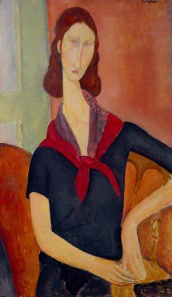"Amedeo Modigliani ""Portrait von Jeanne Hébuterne"" 92 x 54""cm"