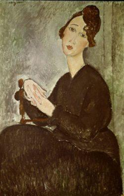 "Amedeo Modigliani ""Portrait de Dédie (Odette Hayden)"" 92 x 60""cm"