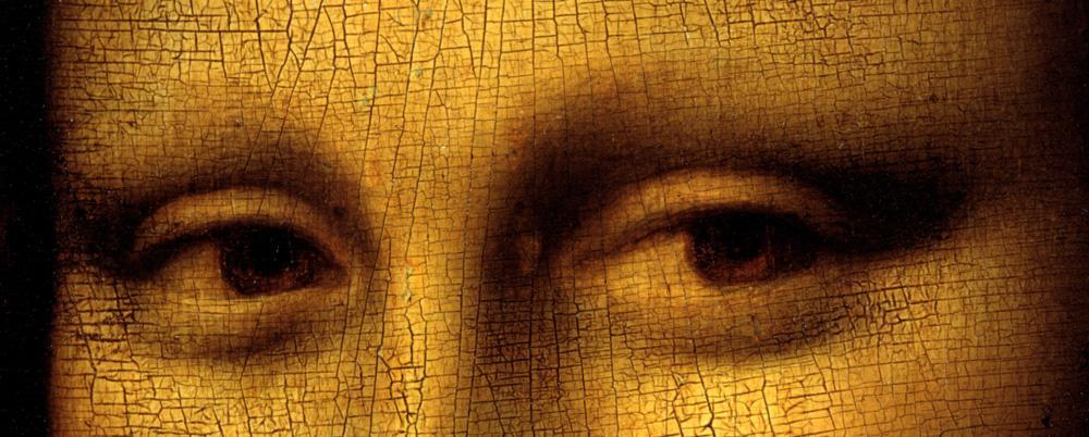 """Leonardo da Vinci """"Mona Lisa (Ausschnitt Augen)"""" 53 x 77 cm"""