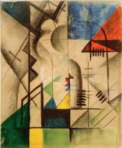 """August Macke """"Abstrakte Formen"""" 32 x 39 cm"""