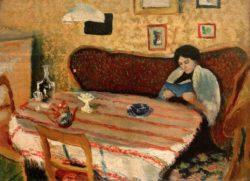 """August Macke """"Unser Wohnzimmer in Tegernsee"""" 23 x 17 cm"""