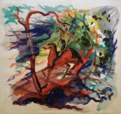 "August Macke ""Reiter im Wald"" 50 x 47 cm"