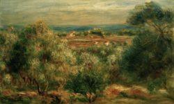 "Auguste Renoir ""Blick von Haut-Cagnes aufs Meer"" 47 x 30 cm"