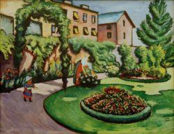 """August Macke """"Der Macke'sche Garten in Bonn"""" 88 x 70 cm"""