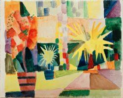 """August Macke """"Garten am Thunersee"""" 29 x 27 cm"""