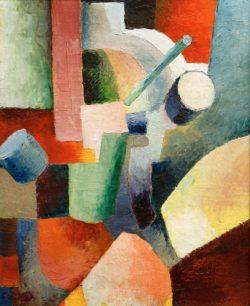 "August Macke ""Farbige Formenkomposition"" 44 x 54 cm"