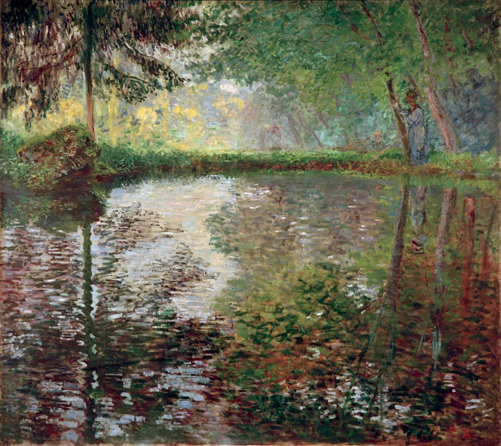 "Claude Monet ""Teich in Montgeron"" 194 x 174 cm"
