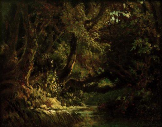 "Carl Spitzweg ""Waldinneres"" 29 x 36 cm 1"