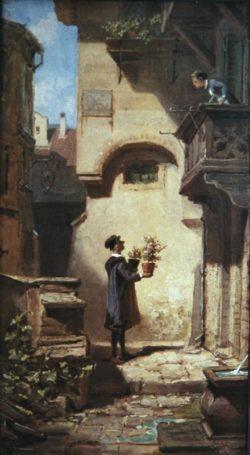 "Carl Spitzweg ""Der Gratulant"" 70 x 45 cm"