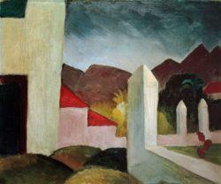 """August Macke """"Tunesische Landschaft"""" 55 x 45 cm"""