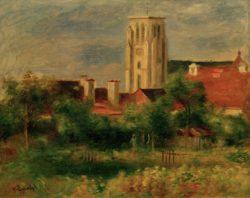"""Auguste Renoir """"Die Kirche von Essoyes"""" 42 x 34 cm"""